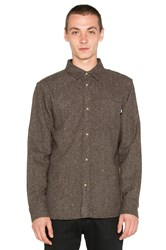 Stussy Speckle Flannel Button Up Brown