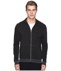 Atm Anthony Thomas Melillo French Terry Zip Hoodie Charcoal Heather Men's Sweatshirt Gray