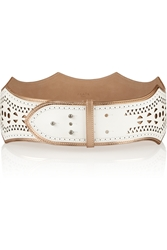 Alaa A Scalloped Leather Waist Belt