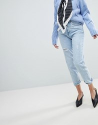 Stradivarius Mom Jeans Blue