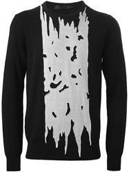Alexander Mcqueen Contrast Cut Out Panel Sweater Black