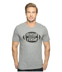 Life Is Good Sunday Funday Football Smooth Tee Heather Gray Men's T Shirt
