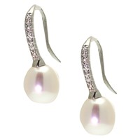 Lido Pearls Cubic Zirconia Fresh Water Pearl Earrings