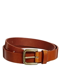 Asos Smart Full Grain Leather Belt Tan