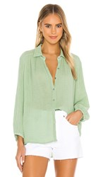 Michael Stars Carrie Button Down In Green. Pistachio