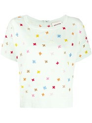 Semicouture Embroidered Round Neck T Shirt 60