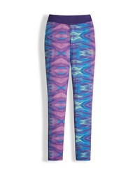The North Face Printed Pulse Stretch Leggings Purple Size Xxs Xl
