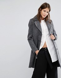Vila Tailored Coat Mid Grey Marl