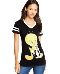Bioworld Juniors' Looney Tunes Hockey Tee