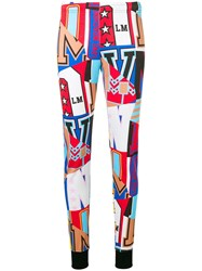 Love Moschino Printed Track Pants Blue