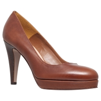 Carvela Alison Leather Platform Stiletto Court Shoes Tan