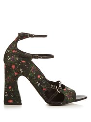 Erdem Athena Midnight Daisy Sandals