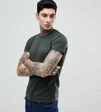 Farah T Shirt With F Logo Slim Fit Exclusive Green
