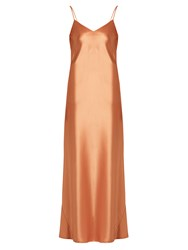 Galvan Alcazar Satin Gown Copper
