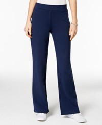 Charter Club Petite Pull On Bootcut Pants Only At Macy's Intrepid Blue