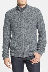 Calibrate Front Zip Knit Sweater Gray