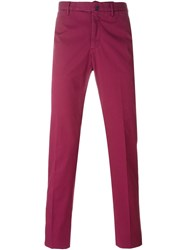Incotex Slim Chino Trousers Pink And Purple