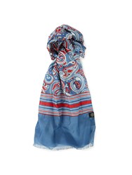 Pretty Green Camley Paisley Scarf Mid Blue