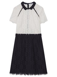 Gerard Darel Blue Canelle Dress Navy Multi