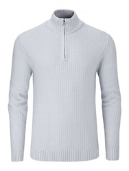 Henri Lloyd Men's Felsted Regular Half Zip Knit Grey