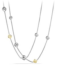 Dy Logo Chain Necklace With Gold David Yurman Red