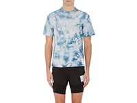 Satisfy Men's Distressed Tie Dyed Cotton T Shirt Blue