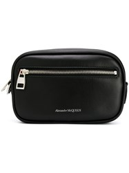 Alexander Mcqueen Classic Wash Bag Black