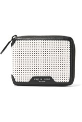 Rag And Bone Perforated Leather Wallet White