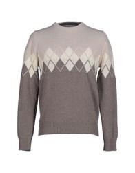 Kangra Cashmere Knitwear Jumpers Men Beige