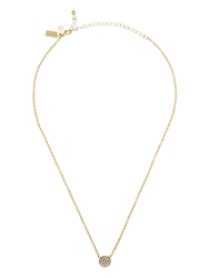Kate Spade Dainty Sparklers Pave Disc Pendant Clear