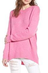 Leith High Low Sweater Pink Trillium