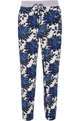 Splendid Printed Crepe Tapered Pants Blue