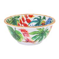 Les Jardins De La Comtesse Tropical Birds Deep Salad Bowl