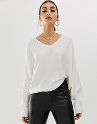 Na Kd Batwing Short Sweater In White