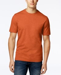 Club Room Men's Big And Tall Solid Crew Neck T Shirt Only At Macy's Roasted Pumpkin
