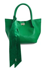 Steve Madden Medium Faux Leather Satchel With Scarf Green