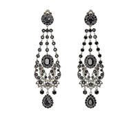 Givenchy Gothic Clip On Chandelier Earrings Black