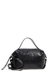 Treasure And Bond Perry Glazed Leather Convertible Satchel Black