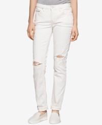 Calvin Klein Jeans Curvy Ripped White Wash Skinny