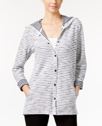 Styleandco. Style Co. Petite Hooded Slub Jacket Only At Macy's Industrial Blue