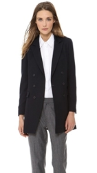 Band Of Outsiders Db Notch Lapel Long Blazer Navy