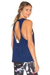 Beyond Yoga Featherweight Spacedye Twisted Open Back Tank Blue