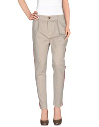 Minimal Trousers Casual Trousers Women Light Grey
