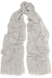 Helmut Lang Cashmere And Silk Blend Scarf Gray