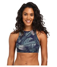 Carve Designs Sanitas Reversible Bikini Top Anchor Palm Beach Women's Swimwear Blue