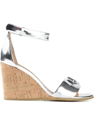 Marc By Marc Jacobs Wedge Sandals Metallic