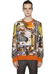 Etro Zebra Printed Cotton Sweatshirt