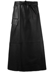 Helmut Lang Flap Pocket Panelled Skirt Black