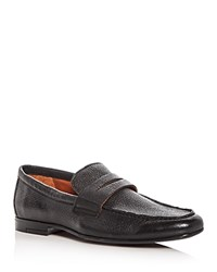 Gordon Rush Men's Connery Leather Penny Loafers Black