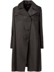 Yang Li Patch Pocket A Line Coat Black